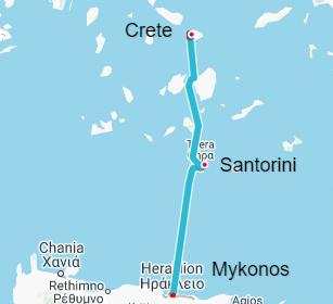 Crete-Santorini-Mykonos
