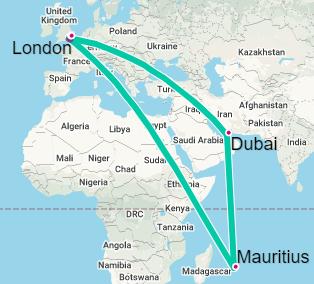 Dubai-Mauritus