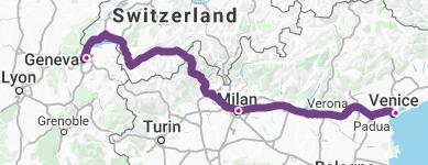 Geneva-Milan-Venice